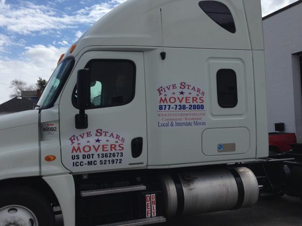Service vehicle for Five Stars Movers