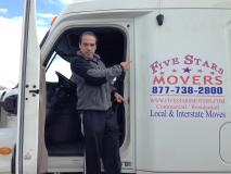 An employee at Five Stars Movers